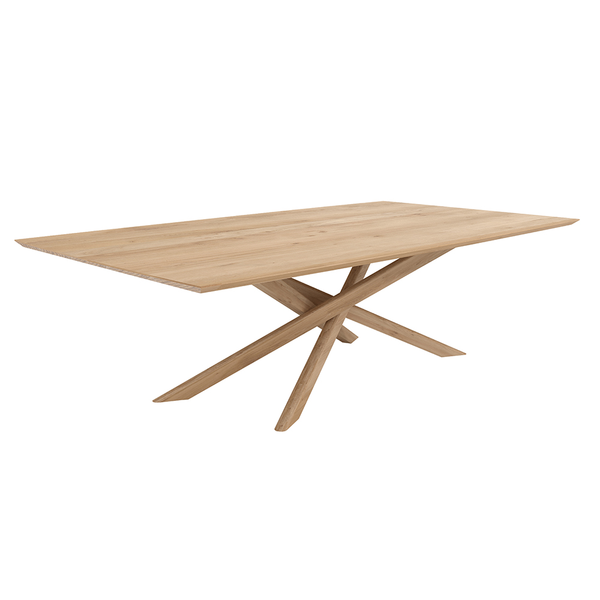 "Ethnicraft NV - Mikado Dining Table - Solid Oak / 80"" Table - Lekker Home"