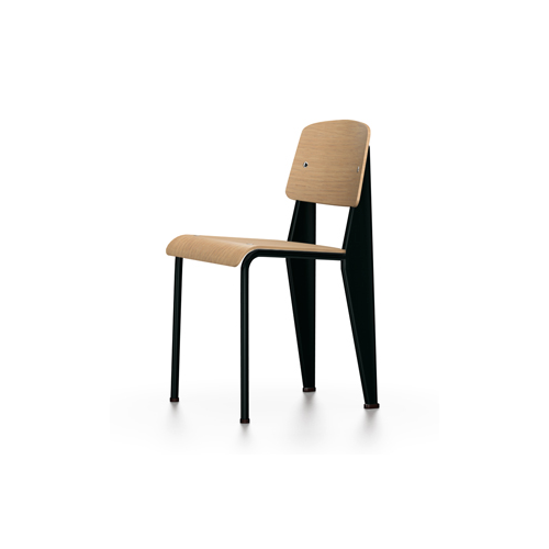 Vitra - Standard Chair - Deep Black / Natural Oak - Lekker Home