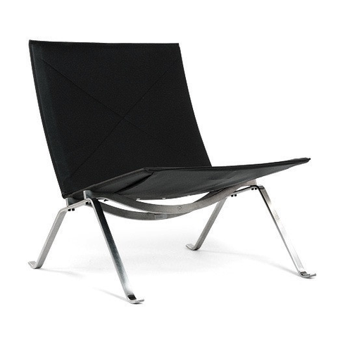 Fritz Hansen - PK22™ Lounge Chair - Natural Canvas / One Size - Lekker Home