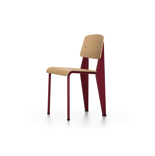 Vitra - Standard Chair - Japanese Red / Natural Oak - Lekker Home