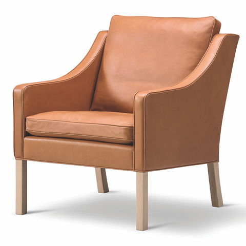 Fredericia - 2207 Lounge Chair - Cognac 75 / Oak Soap - Lekker Home