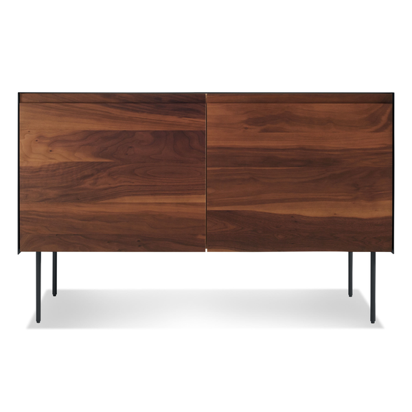 Blu Dot - Clad Credenza - Walnut/Black / 2 Door - Lekker Home