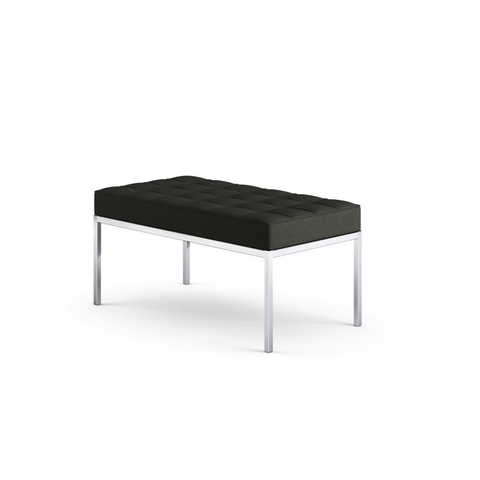 Knoll - Florence Knoll Bench - Hopsack Charcoal / Two Seater - Lekker Home
