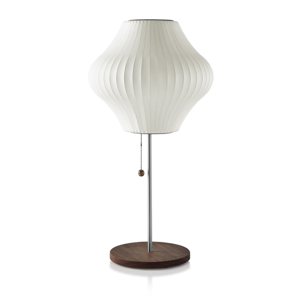 Herman Miller - Nelson™ Pear Lotus Table Lamp - Walnut / Small - Lekker Home