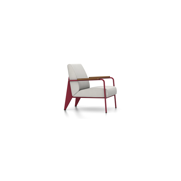 Vitra - Fauteuil de Salon - Twill Light Grey / Japanese Red - Lekker Home