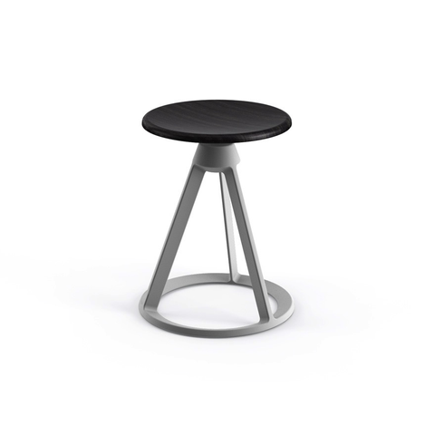 Knoll - Piton™ Fixed Height Stool - Coral Red / Polished Aluminum - Lekker Home