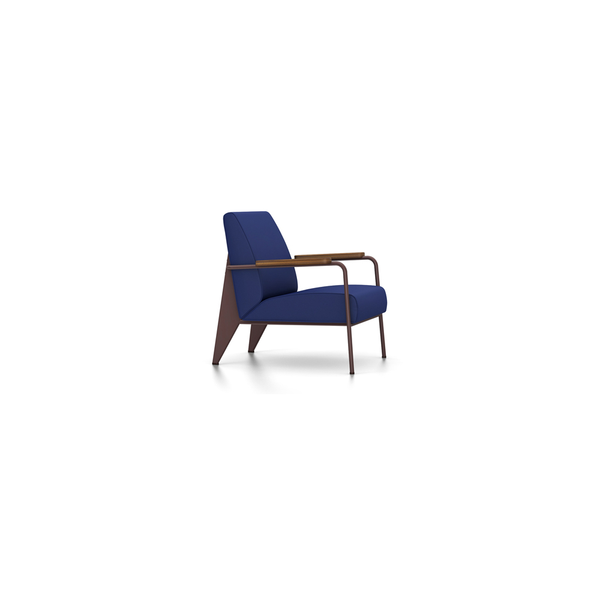 Vitra - Fauteuil de Salon - Twill Ink Blue / Chocolate - Lekker Home