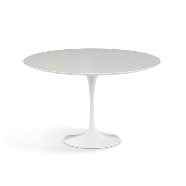 "Knoll - Saarinen Dining Table 47"" Round - White Laminate / Black - Lekker Home"