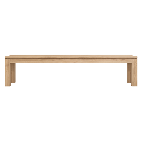 "Ethnicraft NV - Straight Bench - Solid Oak / 55"" - Lekker Home"