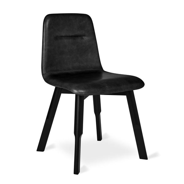 Gus Modern - Bracket Dining Chair - Saddle Black Leather / One Size - Lekker Home