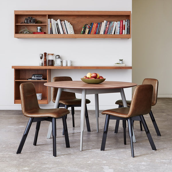 Gus Modern - Bracket Dining Chair - Saddle Brown Leather / One Size - Lekker Home