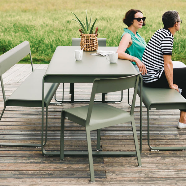 Fermob - Bellevie Bench with Back - Carrot / One Size - Lekker Home