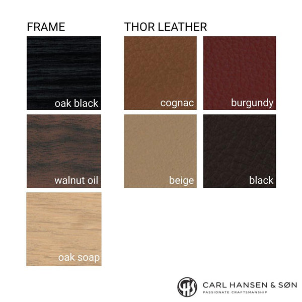 Carl Hansen - CH56 Bar Stool - Oak Soap / Thor Leather Cognac - Lekker Home