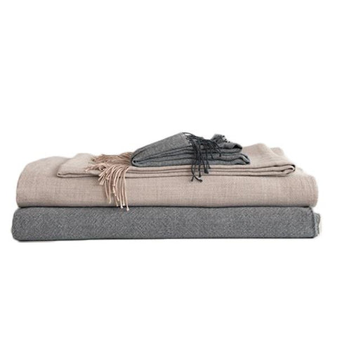 Area Bedding - Elliot Blanket - Blush / Full/Queen - Lekker Home