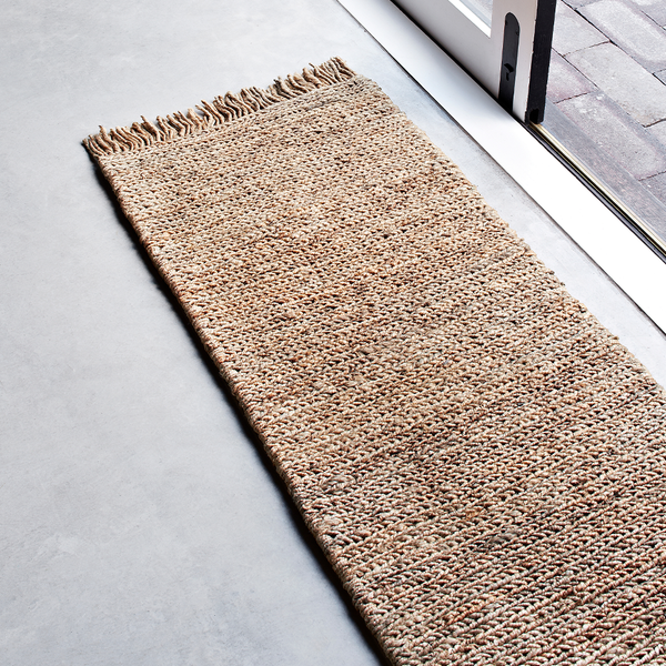 "Armadillo & Co - Sahara Weave Entrance Mat - 1'8"" x 4'7"" / Natural - Lekker Home"
