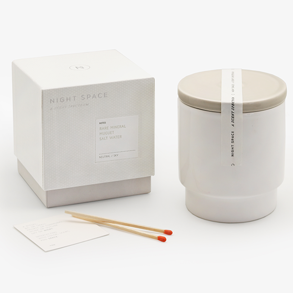 Night Space - Warm Grey Neutral Sky Candle - Lekker Home