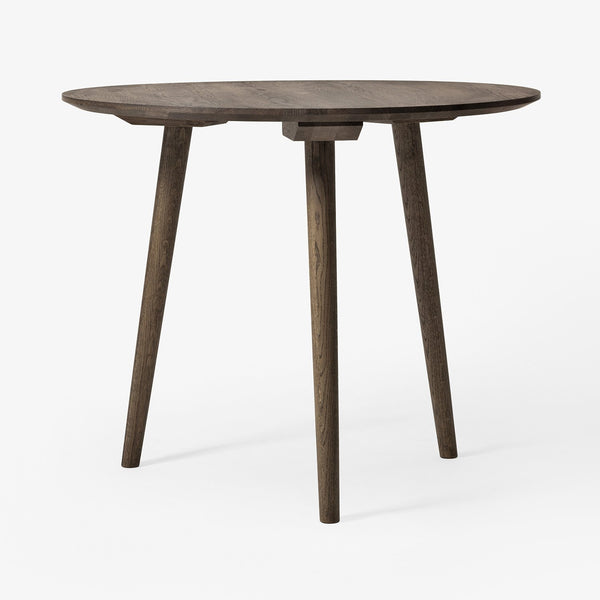 "&Tradition - In Between Table Round - Smoked Oiled Oak / 35"" - Lekker Home"
