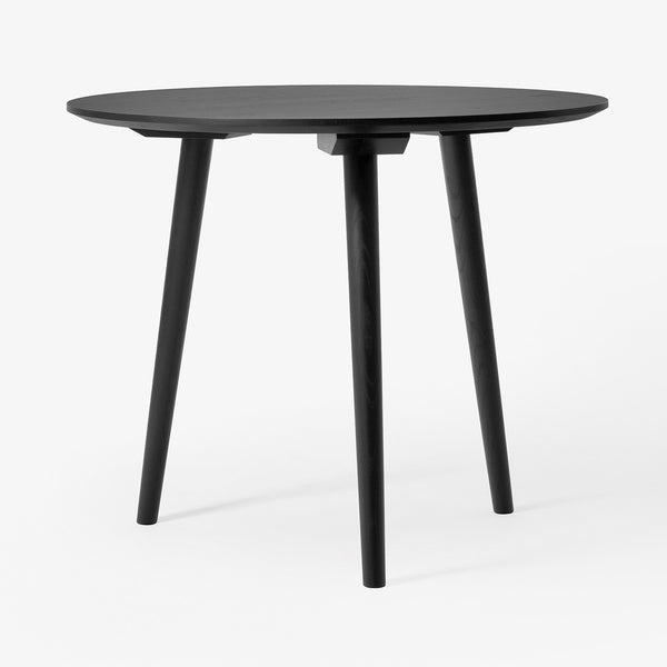 "&Tradition - In Between Table Round - Black Stained Oak / 35"" - Lekker Home"