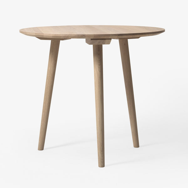 "&Tradition - In Between Table Round - White Oiled Oak / 35"" - Lekker Home"
