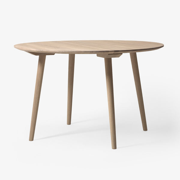 "&Tradition - In Between Table Round - White Oiled Oak / 47"" - Lekker Home"