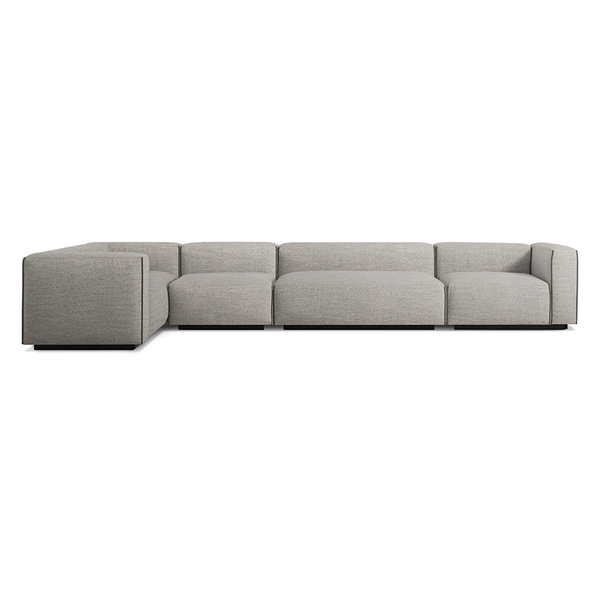 Blu Dot - Cleon Sectional Sofa - Tait Charcoal / Small - Lekker Home