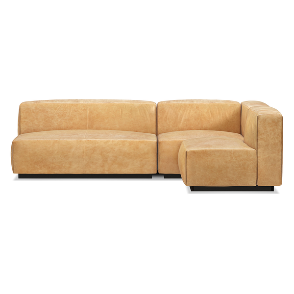 Blu Dot - Cleon Sectional Sofa - Camel Leather / Medium - Lekker Home