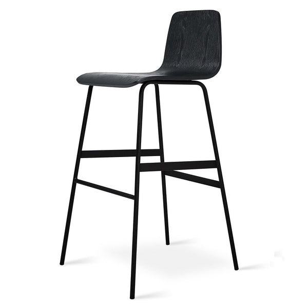 Gus Modern - Lecture Stool - Black Ash / Bar Height - Lekker Home