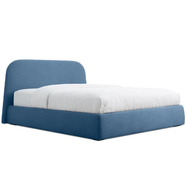 Blu Dot - Lid Storage Bed - Thurmond Marine Blue / Queen - Lekker Home