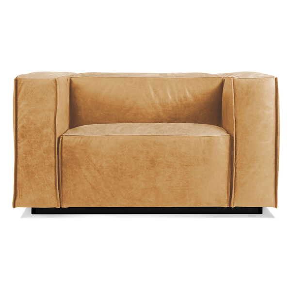 Blu Dot - Cleon Lounge Chair - Camel Leather / One Size - Lekker Home