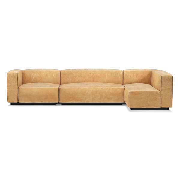 Blu Dot - Cleon Sectional Sofa - Camel Leather / Medium+ - Lekker Home