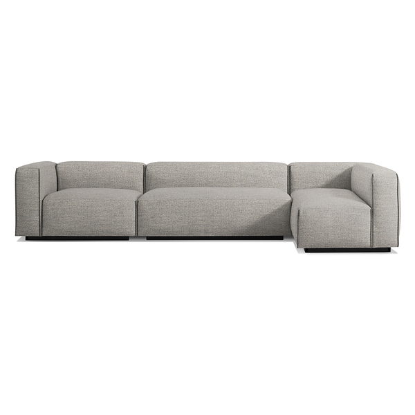 Blu Dot - Cleon Sectional Sofa - Tait Charcoal / Medium+ - Lekker Home