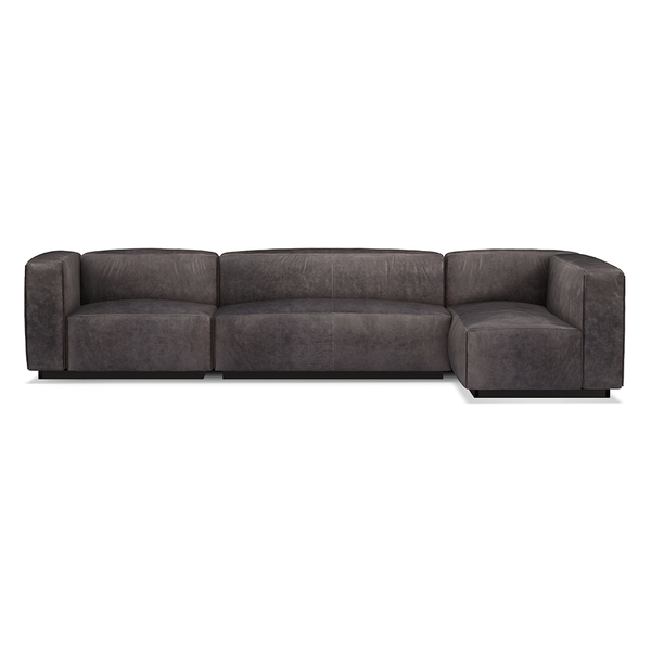 Blu Dot - Cleon Sectional Sofa - Slate Leather / Medium+ - Lekker Home