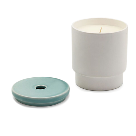 Night Space - Pale Blue Cool Sea Candle - Lekker Home
