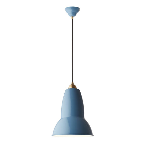 Anglepoise - Original 1227™ Brass Maxi Pendant - Dusty Blue / One Size - Lekker Home