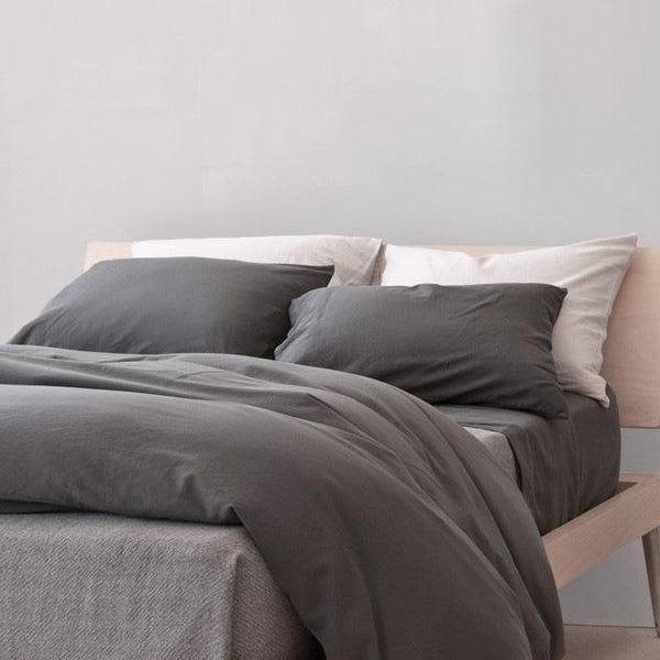Area Bedding - Perla Bedding - Slate / King Duvet - Lekker Home