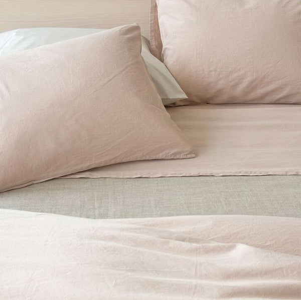 Area Bedding - Perla Bedding - Powder / Full Fitted Sheet - Lekker Home