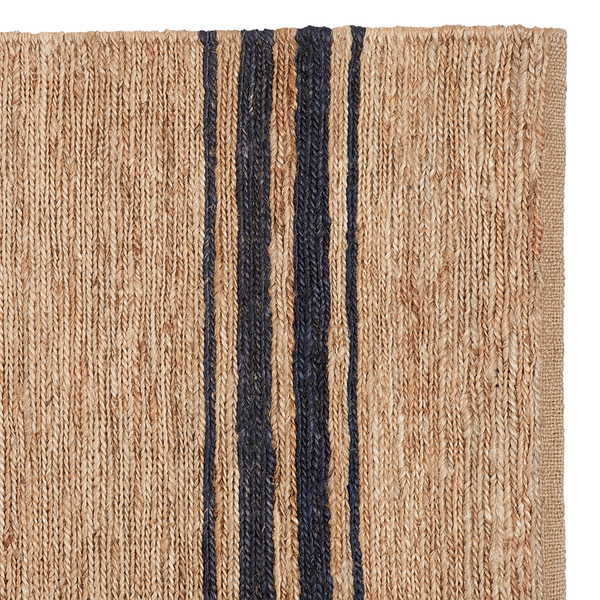 Ticking Stripe River Weave | Natural & Indigo Detail | Armadillo & Co.
