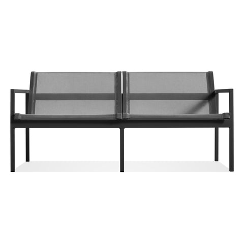 Blu Dot - Skiff Outdoor Sofa - Carbon / 2 Seat Sofa - Lekker Home