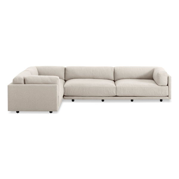 Blu Dot - Sunday L-Shaped Sectional Sofa - Right-Facing Sectional / Sanford Linen - Lekker Home