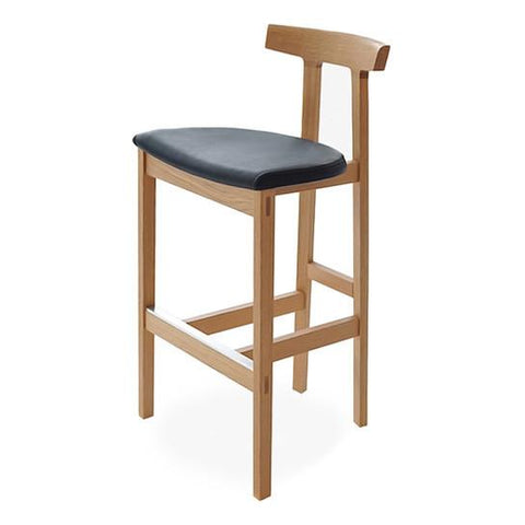 Bensen - Torii Counter Stool - Black House Leather / White Oak - Lekker Home