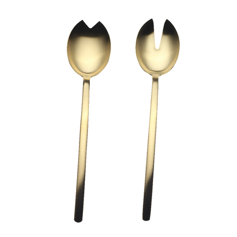 MEPRA S.p.A. - Due Ice Oro Serving Collection - Brushed Gold / Salad Server Set - Lekker Home