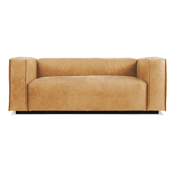 "Blu Dot - Cleon Sofa - Camel Leather / 74"" Sofa - Lekker Home"