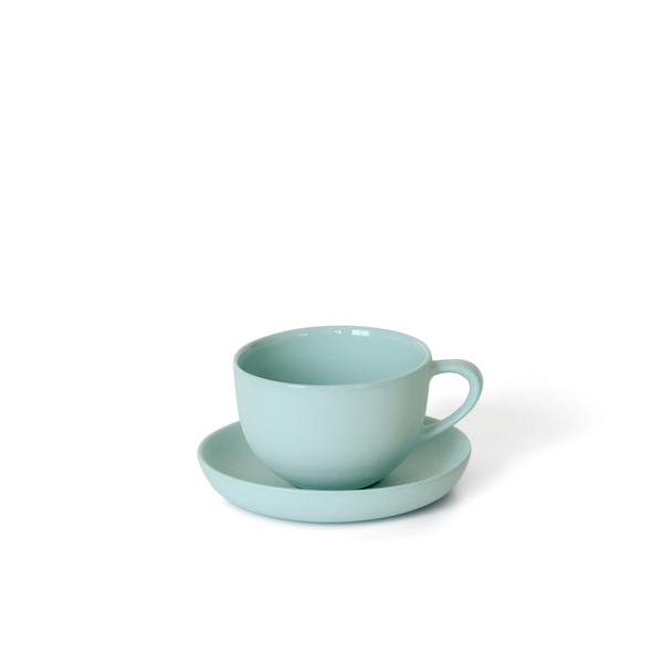 Round Teacup + Saucer | Blue | MUD Australia