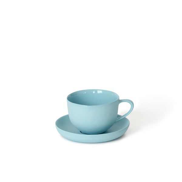 Round Teacup + Saucer | Duck Egg | MUD Australia