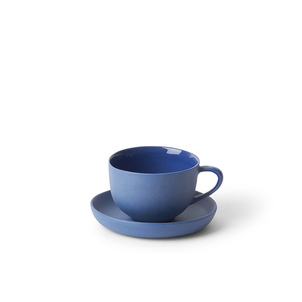 Round Teacup + Saucer | Ink | MUD Australia