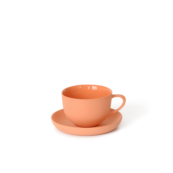 Round Teacup + Saucer | Orange | MUD Australia