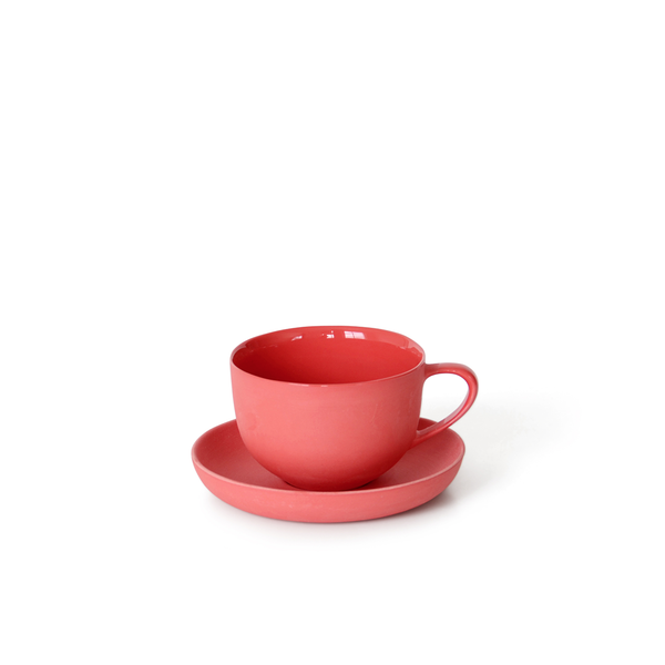Round Teacup + Saucer | Red | MUD Australia