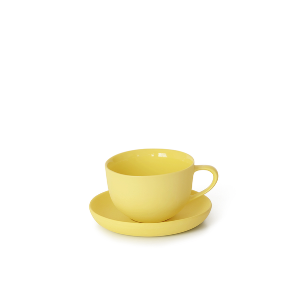 Round Teacup + Saucer | Yellow | MUD Australia