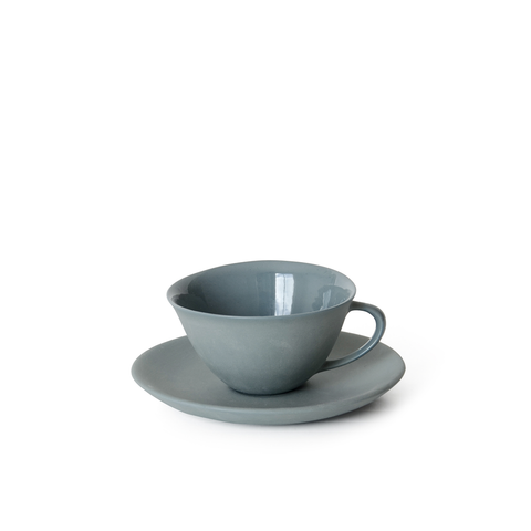 Teacup + Saucer | Steel | MUD Australia