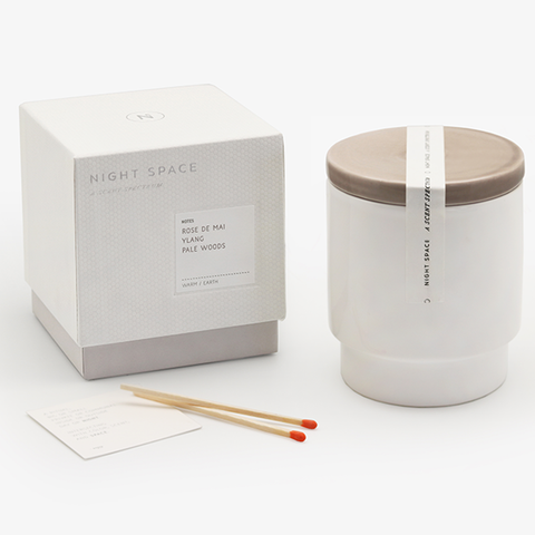 Night Space - Taupe Warm Earth Candle - Default - Lekker Home